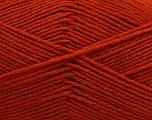 Fiber Content 55% Virgin Wool, 5% Cashmere, 40% Acrylic, Brand ICE, Dark Orange, Yarn Thickness 2 Fine  Sport, Baby, fnt2-47157