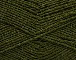 Fiber Content 55% Virgin Wool, 5% Cashmere, 40% Acrylic, Brand ICE, Dark Green, Yarn Thickness 2 Fine  Sport, Baby, fnt2-47158
