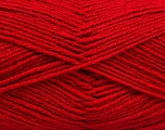 Fiber Content 55% Virgin Wool, 5% Cashmere, 40% Acrylic, Brand ICE, Dark Red, Yarn Thickness 2 Fine  Sport, Baby, fnt2-47159