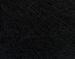 Fiber Content 5% Merino Wool, 41% SuperKid Mohair, 23% Viscose, 23% Polyamide, 2% Elastan, Brand Ice Yarns, Black, Yarn Thickness 1 SuperFine  Sock, Fingering, Baby, fnt2-47434