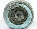 Fiber Content 90% Acrylic, 10% Polyamide, Light Blue, Khaki, Brand Ice Yarns, Grey, Yarn Thickness 4 Medium  Worsted, Afghan, Aran, fnt2-48009