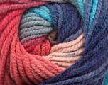 Fiber Content 100% Acrylic, Turquoise, Salmon, Pink, Navy, Brand Ice Yarns, Blue, Yarn Thickness 5 Bulky  Chunky, Craft, Rug, fnt2-48175