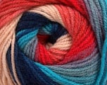 Fiber Content 100% Acrylic, Turquoise, Salmon, Pink, Navy, Brand ICE, Blue, Yarn Thickness 3 Light  DK, Light, Worsted, fnt2-48268