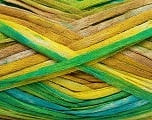 Fiber Content 100% Acrylic, Yellow, White, Turquoise, Brand Ice Yarns, Green Shades, Brown, Yarn Thickness 4 Medium  Worsted, Afghan, Aran, fnt2-48281