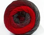 Fiber Content 90% Acrylic, 10% Polyamide, Red, Brand Ice Yarns, Grey Shades, Yarn Thickness 4 Medium  Worsted, Afghan, Aran, fnt2-48380
