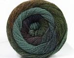 Fiber Content 90% Acrylic, 10% Polyamide, Navy, Brand Ice Yarns, Green Shades, Brown, Yarn Thickness 4 Medium  Worsted, Afghan, Aran, fnt2-48381