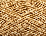 Fiber Content 87% Cotton, 13% Polyester, Brand Ice Yarns, Gold, Cream, fnt2-48556