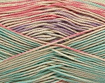 Fiber Content 100% Mercerised Cotton, Salmon, Mint Green, Lilac, Brand ICE, Beige, Yarn Thickness 2 Fine  Sport, Baby, fnt2-48625