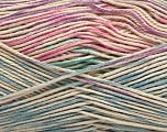 Fiber Content 100% Mercerised Cotton, Turquoise, Pink, Lilac, Brand Ice Yarns, Blue, Beige, Yarn Thickness 2 Fine  Sport, Baby, fnt2-48626