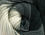 Fasergehalt 100% Acryl, White, Brand Ice Yarns, Grey, Black, Yarn Thickness 4 Medium  Worsted, Afghan, Aran, fnt2-48629