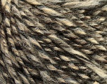 Fiber Content 40% Acrylic, 35% Wool, 25% Alpaca, Brand Ice Yarns, Grey, Cream, Brown, Black, Yarn Thickness 4 Medium  Worsted, Afghan, Aran, fnt2-48734