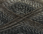 Fiber Content 100% Acrylic, Brand Ice Yarns, Grey Shades, Brown, Yarn Thickness 4 Medium  Worsted, Afghan, Aran, fnt2-49310