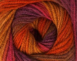 Fiber Content 100% Acrylic, Maroon, Brand ICE, Copper, Burgundy, Brown Shades, Yarn Thickness 3 Light  DK, Light, Worsted, fnt2-49332