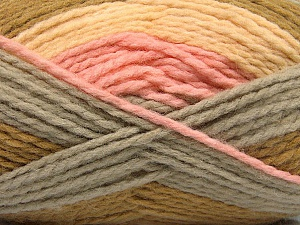 Fiber Content 70% Acrylic, 30% Wool, Pink, Olive Green, Light Yellow, Brand ICE, Grey, Yarn Thickness 4 Medium  Worsted, Afghan, Aran, fnt2-53553
