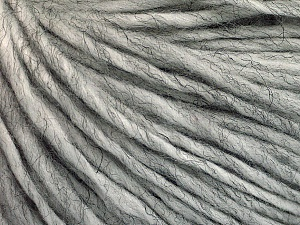 Fiber Content 50% Wool, 50% Acrylic, Brand ICE, Grey Melange, Yarn Thickness 4 Medium  Worsted, Afghan, Aran, fnt2-57001