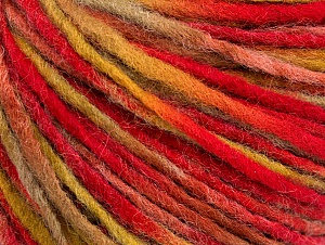 Fiber Content 50% Acrylic, 50% Wool, Red, Olive Green, Brand ICE, Copper, fnt2-59317