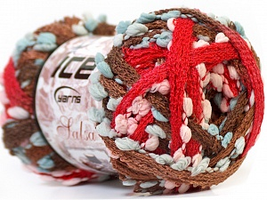 Fiber Content 85% Acrylic, 15% Nylon, Red, Brand ICE, Brown Shades, Yarn Thickness 6 SuperBulky  Bulky, Roving, fnt2-22271