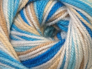 Fiber Content 100% Premium Acrylic, White, Brand ICE, Camel, Blue Shades, Yarn Thickness 3 Light  DK, Light, Worsted, fnt2-33392