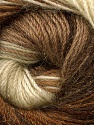 Fiber Content 57% Premium Acrylic, 3% Metallic Lurex, 20% Mohair, 20% Wool, Brand Ice Yarns, Cream, Brown Shades, Yarn Thickness 2 Fine  Sport, Baby, fnt2-50317