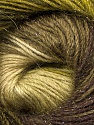 Fiber Content 57% Premium Acrylic, 3% Metallic Lurex, 20% Wool, 20% Mohair, Brand Ice Yarns, Green Shades, Brown Shades, Yarn Thickness 2 Fine  Sport, Baby, fnt2-50318