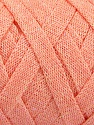 Fiber Content 70% Recycled Cotton, 30% Metallic Lurex, Light Salmon, Brand Ice Yarns, Yarn Thickness 6 SuperBulky  Bulky, Roving, fnt2-50524