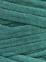 Make handbags,rugs,basket and cushion covers with this genius new-fashion yarn!<p>Since the yarn is made by upcycling fabrics, and because of the nature of the yarn; take the following notes into consideration. </p><ul><li>Width vary between 0,8 cm and 1,2 cm</li><li>Fiber content information may vary. Information given about fiber content is approximate. </li><li>The yardage and weight information of the yarn is approximate. </li></ul> Fiber Content 95% Cotton, 5% Elastan, Light Emerald Green, Brand Ice Yarns, Yarn Thickness 6 SuperBulky  Bulky, Roving, fnt2-50684