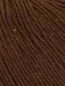 Fiber Content 60% Cotton, 40% Acrylic, Brand ICE, Dark Brown, Yarn Thickness 2 Fine  Sport, Baby, fnt2-51513