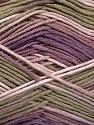 Fasergehalt 100% AntiBacterial Micro Dralon, Lilac Shades, Khaki, Brand Ice Yarns, Yarn Thickness 2 Fine  Sport, Baby, fnt2-51904