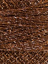Fiber Content 70% Polyester, 30% Metallic Lurex, Brand YarnArt, Silver, Copper, Yarn Thickness 0 Lace  Fingering Crochet Thread, fnt2-52251
