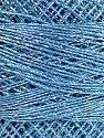 Fiberinnehåll 70% Polyester, 30% metalliskt Lurex, Brand YarnArt, Silver, Light Blue, Yarn Thickness 0 Lace  Fingering Crochet Thread, fnt2-52254