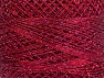 Fasergehalt 70% Polyester, 30% Metallic Lurex, Brand YarnArt, Silver, Burgundy, Yarn Thickness 0 Lace  Fingering Crochet Thread, fnt2-52257