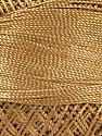 Fiber Content 100% Micro Fiber, Brand YarnArt, Dark Gold, Yarn Thickness 0 Lace  Fingering Crochet Thread, fnt2-52259