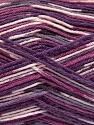 Fiber Content 50% Superwash Merino Wool, 25% Polyamide, 25% Bamboo, Purple Shades, Brand Ice Yarns, Yarn Thickness 1 SuperFine  Sock, Fingering, Baby, fnt2-52390