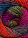 Fiber Content 70% Dralon, 30% Wool, Purple, Orange, Brand Ice Yarns, Green, Fuchsia, Blue, Yarn Thickness 4 Medium  Worsted, Afghan, Aran, fnt2-52568