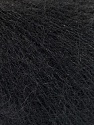 Fiber Content 52% SuperKid Mohair, 35% Polyamide, 13% Superwash Extrafine Merino Wool, Brand Ice Yarns, Black, Yarn Thickness 1 SuperFine  Sock, Fingering, Baby, fnt2-53026