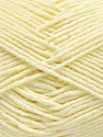 Baby cotton is a 100% premium giza cotton yarn exclusively made as a baby yarn. It is anti-bacterial and machine washable! Fiber Content 100% Giza Cotton, Lemon Yellow, Brand ICE, Yarn Thickness 3 Light  DK, Light, Worsted, fnt2-53078