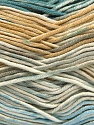 Fiber Content 50% Cotton, 50% Acrylic, Turquoise, Light Blue, Brand Ice Yarns, Grey, Cream, Beige, Yarn Thickness 2 Fine  Sport, Baby, fnt2-53164