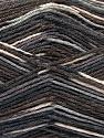Fasergehalt 50% Superwash Merino Wool, 25% Polyamid, 25% Bambus, Brand Ice Yarns, Grey Shades, Brown Shades, fnt2-53333
