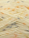 Fiber indhold 100% Akryl, Yellow, Orange, Brand Ice Yarns, Grey, Cream, fnt2-53525