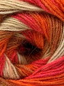 Fiber Content 60% Acrylic, 20% Angora, 20% Wool, Salmon, Orange, Light Brown, Brand ICE, Cream, Yarn Thickness 2 Fine  Sport, Baby, fnt2-53557