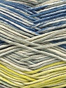 Fiber indhold 50% Akryl, 50% Bomuld, Yellow, Brand Ice Yarns, Grey Shades, Cream, Blue, fnt2-53760