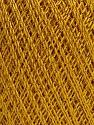 Ne: 10/3 Nm: 17/3 Fiber Content 96% Mercerised Cotton, 4% Metallic Lurex, Brand Ice Yarns, Gold, Yarn Thickness 1 SuperFine  Sock, Fingering, Baby, fnt2-54247