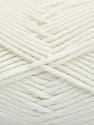 Fiber indhold 50% SuperFineAcrylic, 50% SuperFineNylon, White, Brand Ice Yarns, fnt2-54328