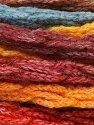 Fiber Content 66% Acrylic, 24% Wool, 10% Polyamide, Yellow, Orange, Brand ICE, Burgundy, Brown, Blue, Yarn Thickness 6 SuperBulky  Bulky, Roving, fnt2-54335
