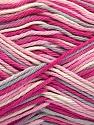 Fasergehalt 100% Baumwolle, White, Pink Shades, Light Grey, Brand Ice Yarns, fnt2-54353