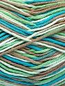 Fasergehalt 100% Baumwolle, White, Turquoise, Mint Green, Brand Ice Yarns, Camel, fnt2-54355