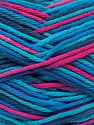 Fiber Content 100% Cotton, Turquoise Shades, Navy, Brand Ice Yarns, Fuchsia, Yarn Thickness 3 Light  DK, Light, Worsted, fnt2-54356