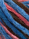 Fiber Content 50% Acrylic, 50% Wool, Salmon, Brand ICE, Brown, Blue Shades, Yarn Thickness 6 SuperBulky  Bulky, Roving, fnt2-54383
