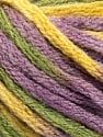 Fiber Content 50% Acrylic, 50% Wool, Yellow, Lilac, Brand ICE, Green, Yarn Thickness 6 SuperBulky  Bulky, Roving, fnt2-54384
