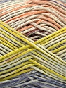 Fiber Content 50% Cotton, 50% Acrylic, Salmon, Lilac, Light Green, Brand Ice Yarns, Yarn Thickness 2 Fine  Sport, Baby, fnt2-54484